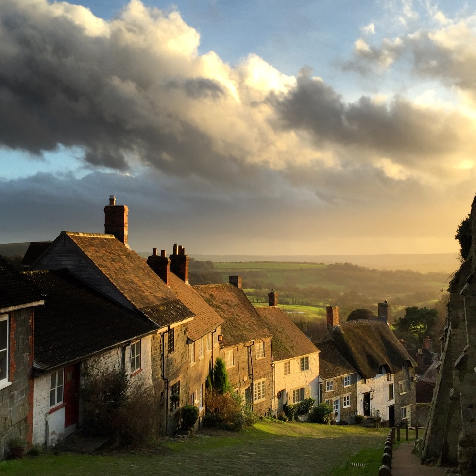 A view of Gold Hill, also known as Hovis Hill, in Shaftesbury, Dorset